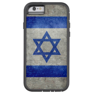 Flag of Israel with worn retro vintage textures Tough Xtreme iPhone 6 Case