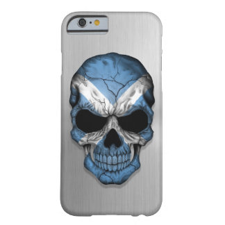 Flag of Scotland on a Steel Skull Graphic Barely There iPhone 6 Case