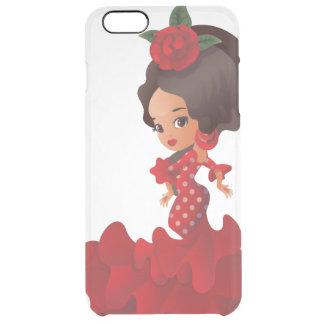 Flamenco cartoon chibi kawaii girl clear iPhone 6 plus case