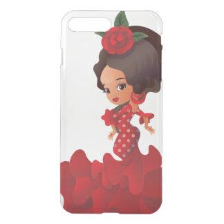Flamenco cartoon chibi kawaii girl iPhone 7 plus case
