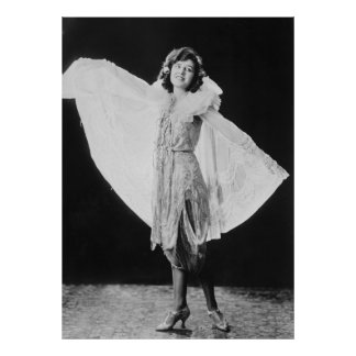 Flapper Style Dress, 1920s Poster