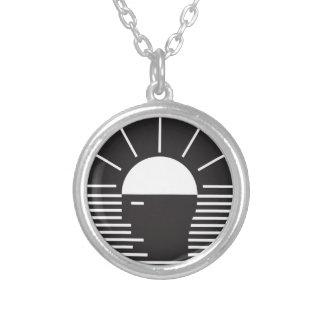flash of bright  idea round pendant necklace