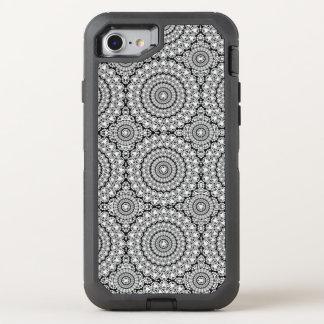 Flashy White Sparkling Diamonds Circles Pattern OtterBox Defender iPhone 7 Case