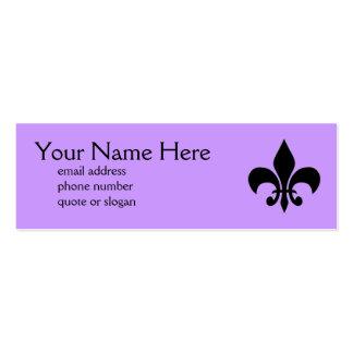 Fleur de Lis Skinny Profile Card Pack Of Skinny Business Cards