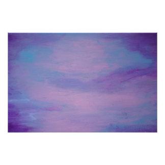 Flighty Pretty Pink Purple Blue Sky Clouds Pastel Photo