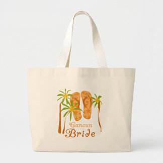 Flip Flops Cancun Bride Jumbo Tote Bag
