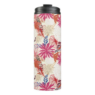 Floral background 3 thermal tumbler