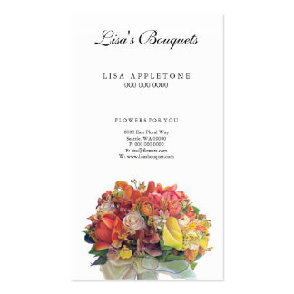 Floral-Card 1 Pack Of Standard Business Cards