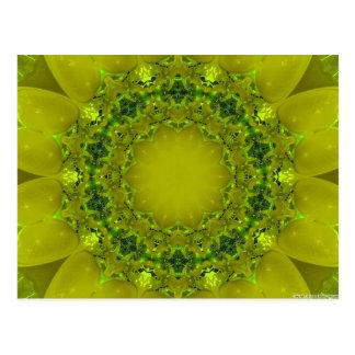 Floral Fractal Postcard