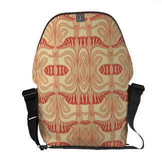 Floral Lilies Pattern - Red, Yellow, Orange Courier Bag