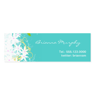 Floral Networking Mini Profile Business Card