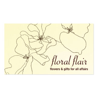 Floral or Gift Shop Business Card