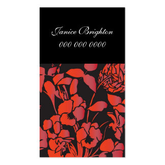 Floral Pack Of Standard Business Cards