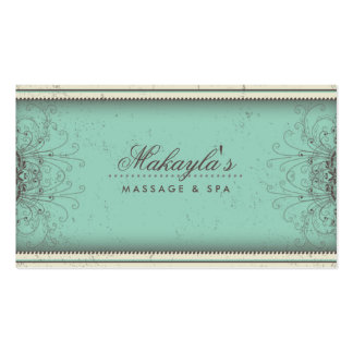Floral Pattern Damask Elegant Modern Classy Retro Pack Of Standard Business Cards