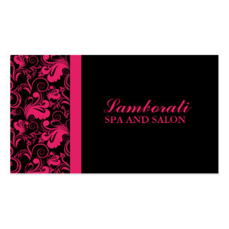 Floral Pattern Elegant Hairdresser Stylist Salon Pack Of Standard Business Cards