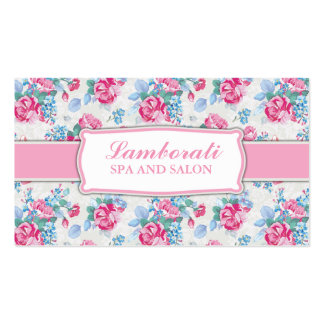 Floral Pattern Fashion Designer Stylist Elegant Pack Of Standard Business Cards