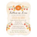 Floral Pumpkin Fall Bridal Shower 13 Cm X 18 Cm Invitation Card