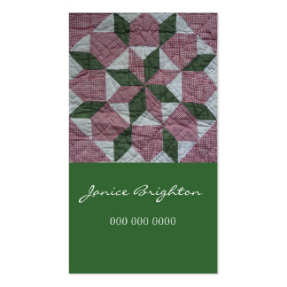 Floral Star Pack Of Standard Business Cards