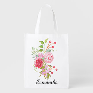 Floral watercolor mix bridal name
