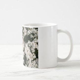 Floral White Basic White Mug