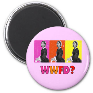 """Florence Nightengale Gifts """"WWFD?"""" 6 Cm Round Magnet"""