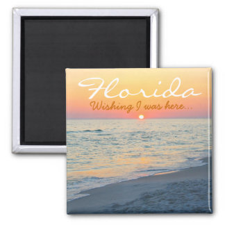 Florida sunset - Wishing I was here Square Magnet