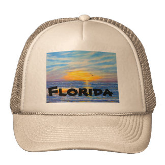 """FLORIDA WAVES TRUCKER HAT"" CAP"