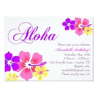 Flower Aloha Birthday Invitation