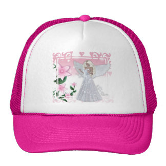 Flower Angel Design Cap