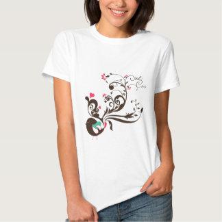 Flower bird t shirts