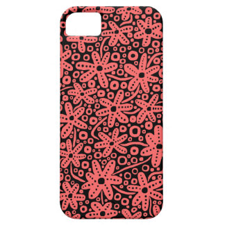 Flower Design - Tropical Pink on Black.pdf iPhone 5 Cover