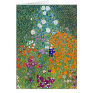 Flower Garden by Gustav Klimt Note Card