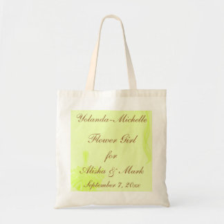 """Flower Girl"" - Personalized w/ Flower Basket & Ri Budget Tote Bag"