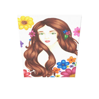 "Flower Girl Wrapped Canvas (32"" x 48"") Canvas Prints"