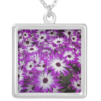 Flower pattern, Kuekenhof Gardens, Lisse, Square Pendant Necklace