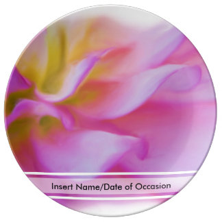 Flower Pink Dahlia Porcelain Plate