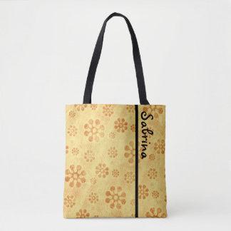 Flower Power Blooms - yellow orange Tote Bag