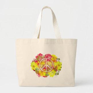 Flower Power Peace Jumbo Tote Bag