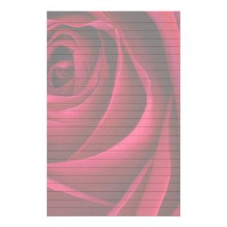 Flower Red Rose Stationery Design