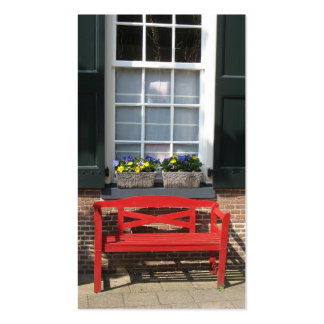 Flower Windows & Red Bench Small Photo Card Pack Of Standard Business Cards
