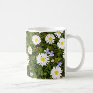 flowering meadow basic white mug