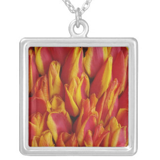 Flowers on float celebrating Queen's Day, a Square Pendant Necklace