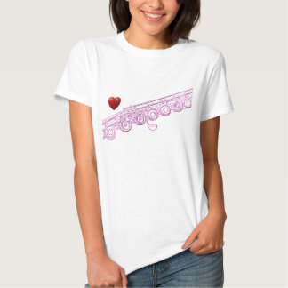 Flute Pink Drawing and Heart Shirt