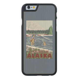 Fly Fisherman - Latouche, Alaska Carved® Maple iPhone 6 Case