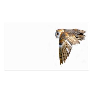 Flying barn owl business card