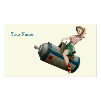 Flying Cowgirl V2 Pack Of Standard Business Cards