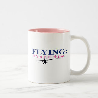 FLYING: IT'S A GIRL THING by Flying Diva Mary Ford Two-Tone Mug