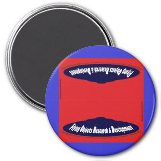 Flying Objects Research & Development 7.5 Cm Round Magnet