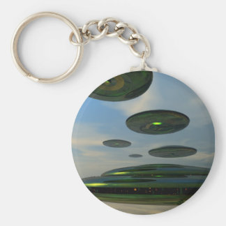 Flying Saucer Fleet Keychain