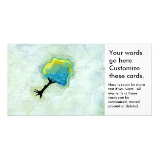 Flying tree floating fun minimalist modern art picture card